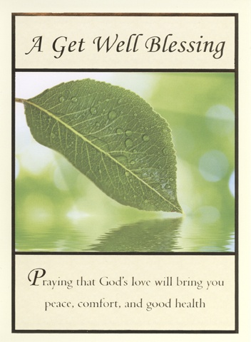 Get Well Blessing Card